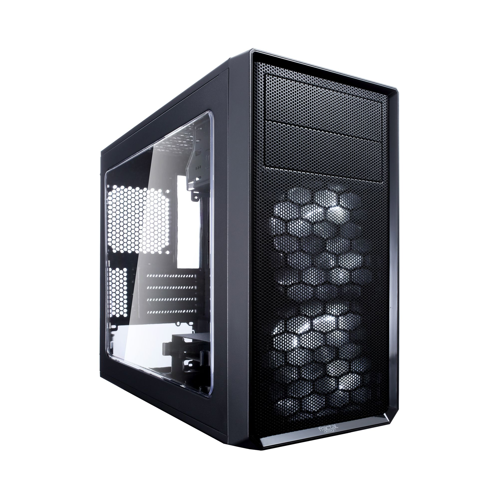 Корпус Fractal Design Focus G Mini (FD-CA-FOCUS-MINI-BK-W) Black black tiered design round neck half sleeves bodycon mini dress