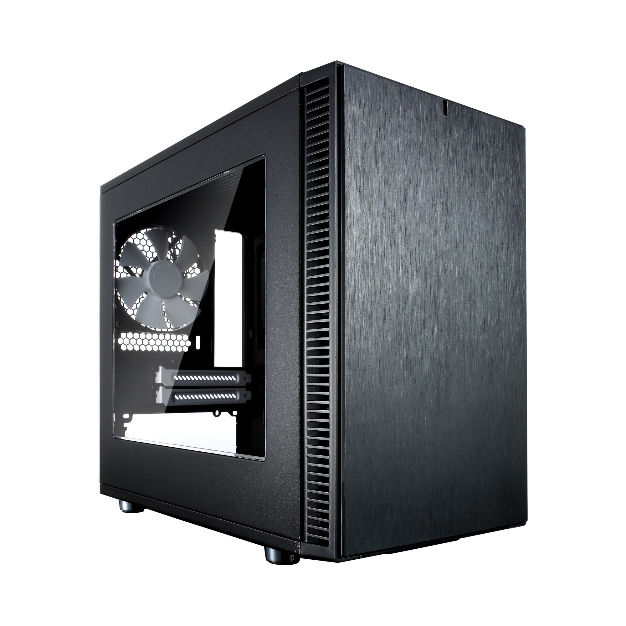 Корпус Fractal Design Define Nano S (FD-CA-DEF-NANO-S-BK) черный корпус mini itx fractal design define nano s без бп чёрный