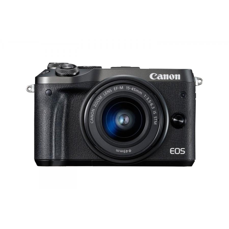 Цифровой фотоаппарат Canon EOS M6 Kit EF-M 15-45 IS STM Black фотоаппарат canon eos m6 kit ef m 15 45 is stm silver