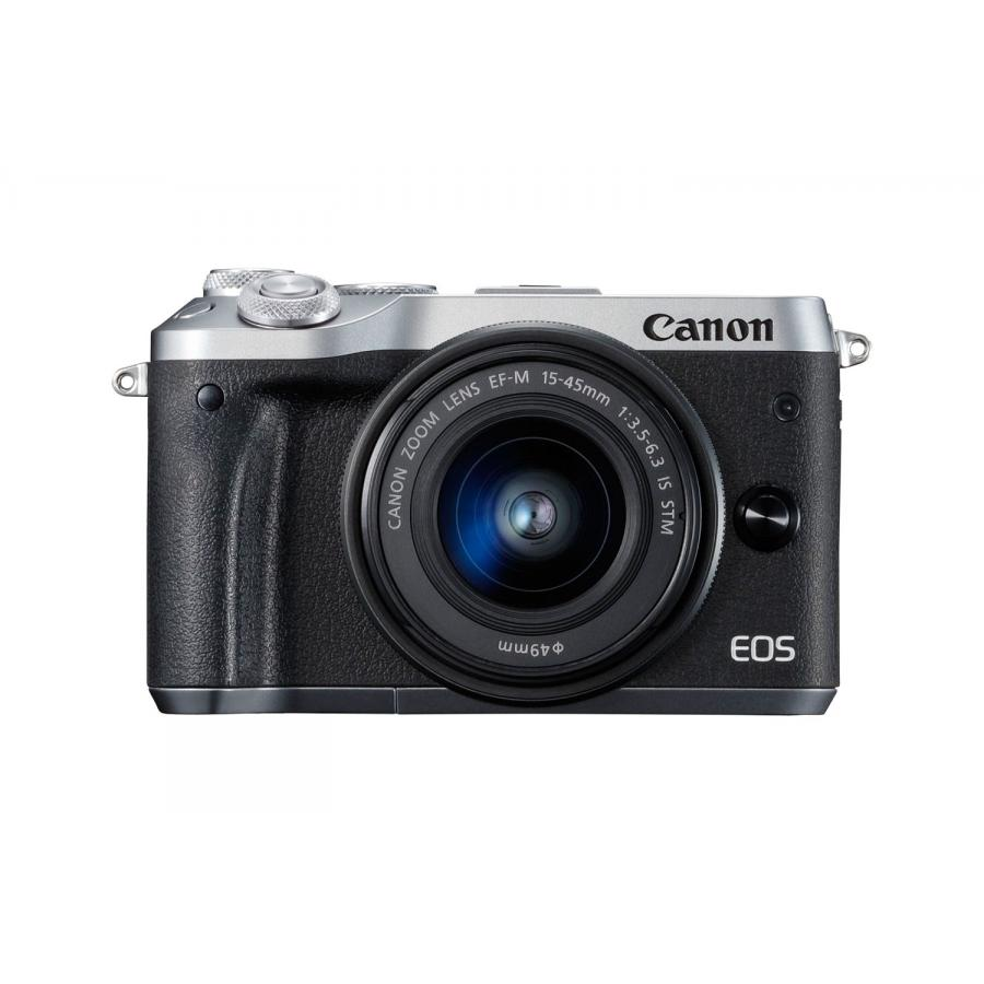 Цифровой фотоаппарат Canon EOS M6 Kit EF-M 15-45 IS STM Silver фотоаппарат canon eos m6 kit ef m 15 45 is stm silver