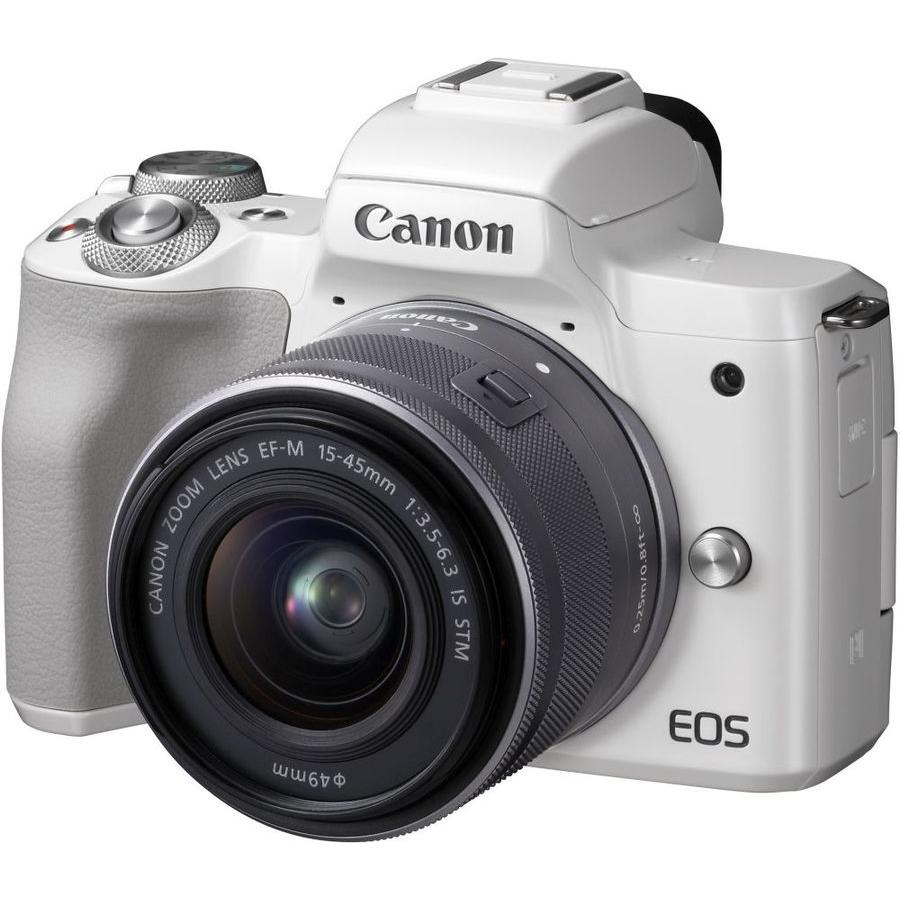 Цифровой фотоаппарат Canon EOS M50 kit 15-45 IS STM White