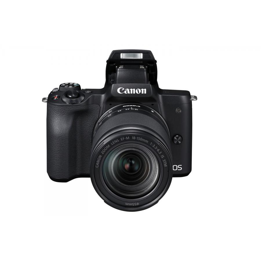 Цифровой фотоаппарат Canon EOS M50 Kit EF-M 18-150 IS STM Black фотоаппарат canon eos m50 kit 18 150 is stm черный [2680c042]