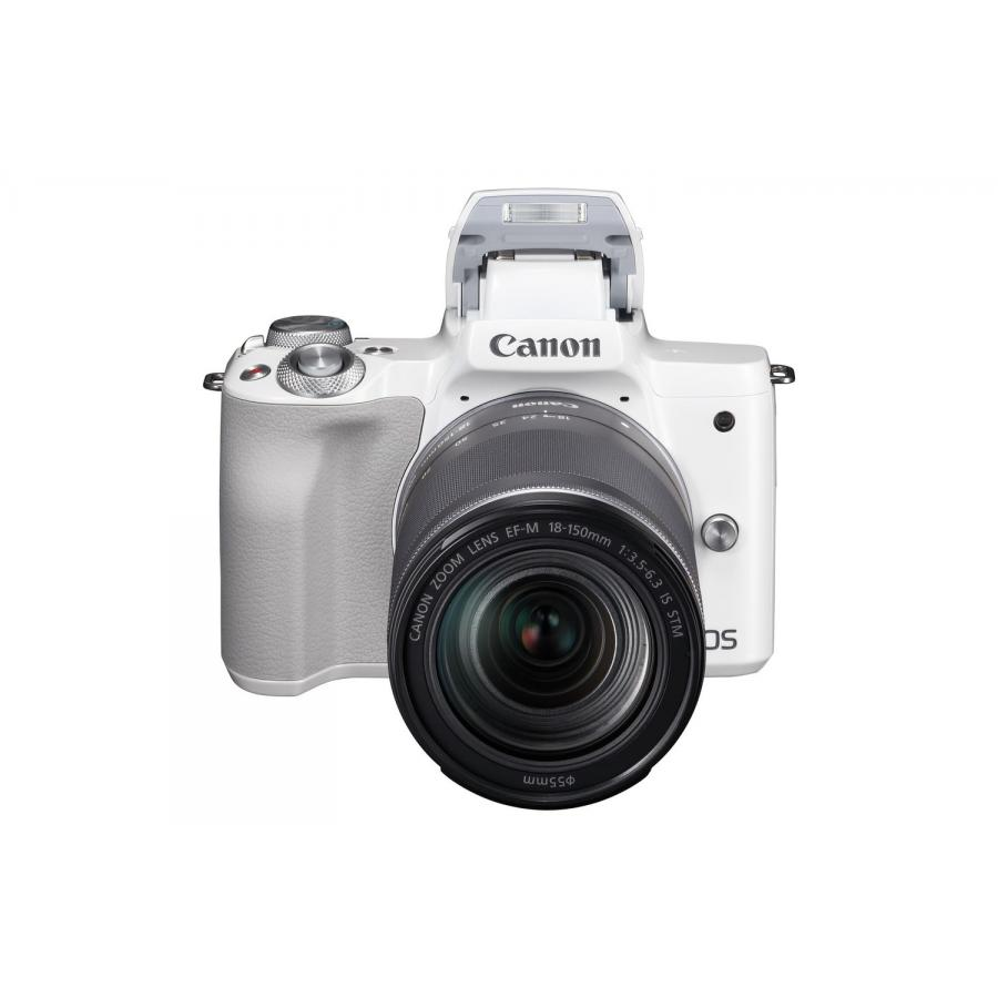 Цифровой фотоаппарат Canon EOS M50 Kit EF-M 18-150 IS STM White фотоаппарат canon eos m50 kit 18 150 is stm черный [2680c042]
