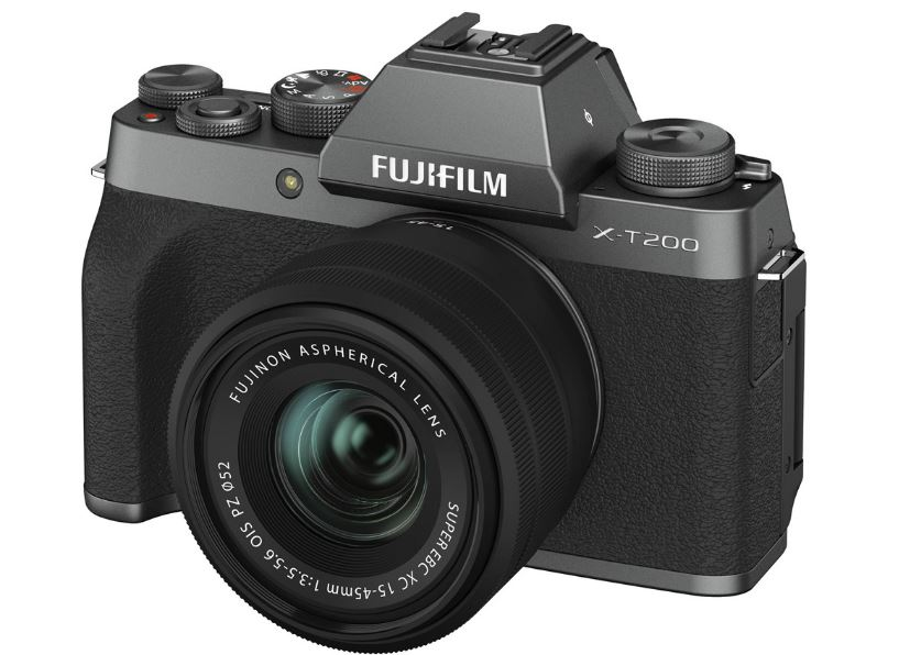 Цифровой фотоаппарат FujiFilm X-T200 kit XC15-45mm OIS PZ Dark Silver фотоаппарат fujifilm finepix xp140 dark silver