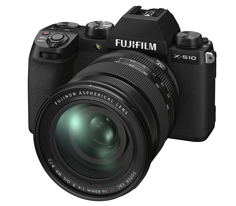 Фото - Цифровой фотоаппарат FujiFilm X-S10 Kit XF16-80mm F4 R OIS WR Black фотоаппарат fujifilm x t3 kit 18 55mm silver