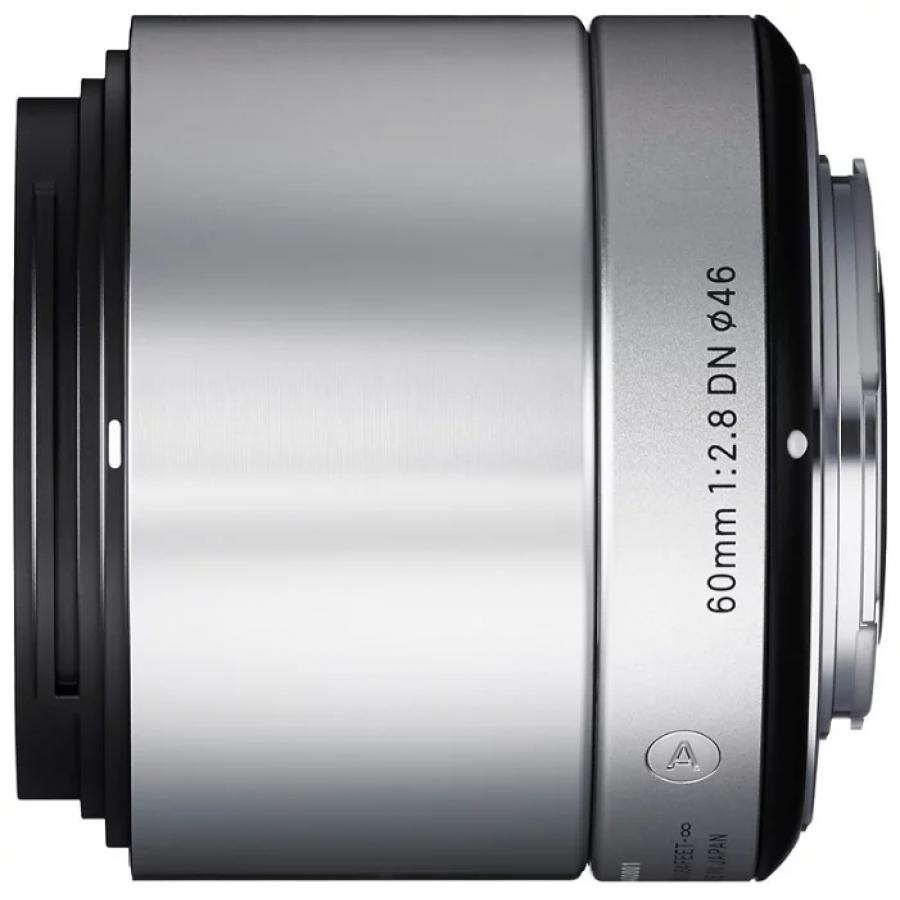 Объектив Sigma AF 60mm f/2.8 DN Sony E Silver объектив sigma af 19 mm f 2 8 dn art for micro four thirds black