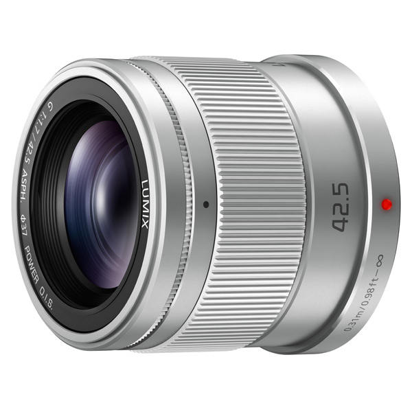 Объектив Panasonic Lumix H-HS043E-S 42.5mm f/1.7 G Aspherical Power O.I.S. (H-HS043E) silver объектив panasonic h fs35100e s