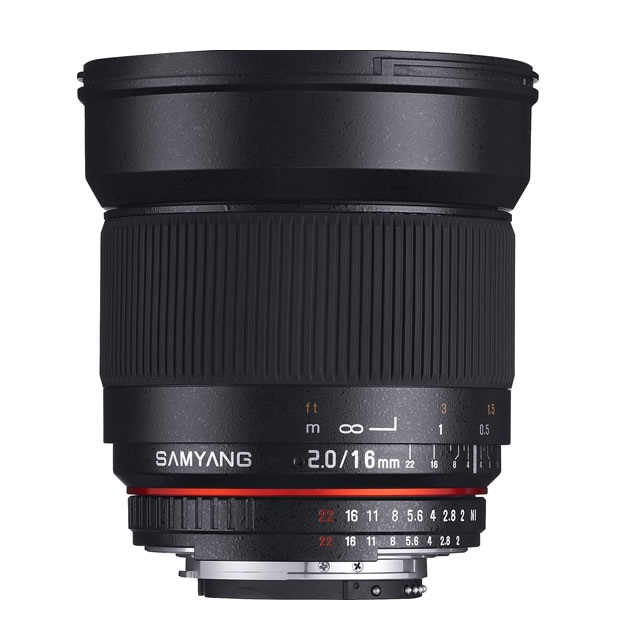 Объектив SAMYANG MF 16mm f/2.0 ED AS UMC CS Sony E (NEX) объектив samyang af 85mm f 1 4 umc canon ef