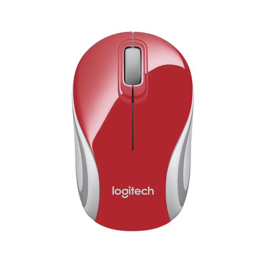 Мышь Logitech Wireless Mini Mouse M187 Red мышь logitech wireless mini mouse m187 black white usb