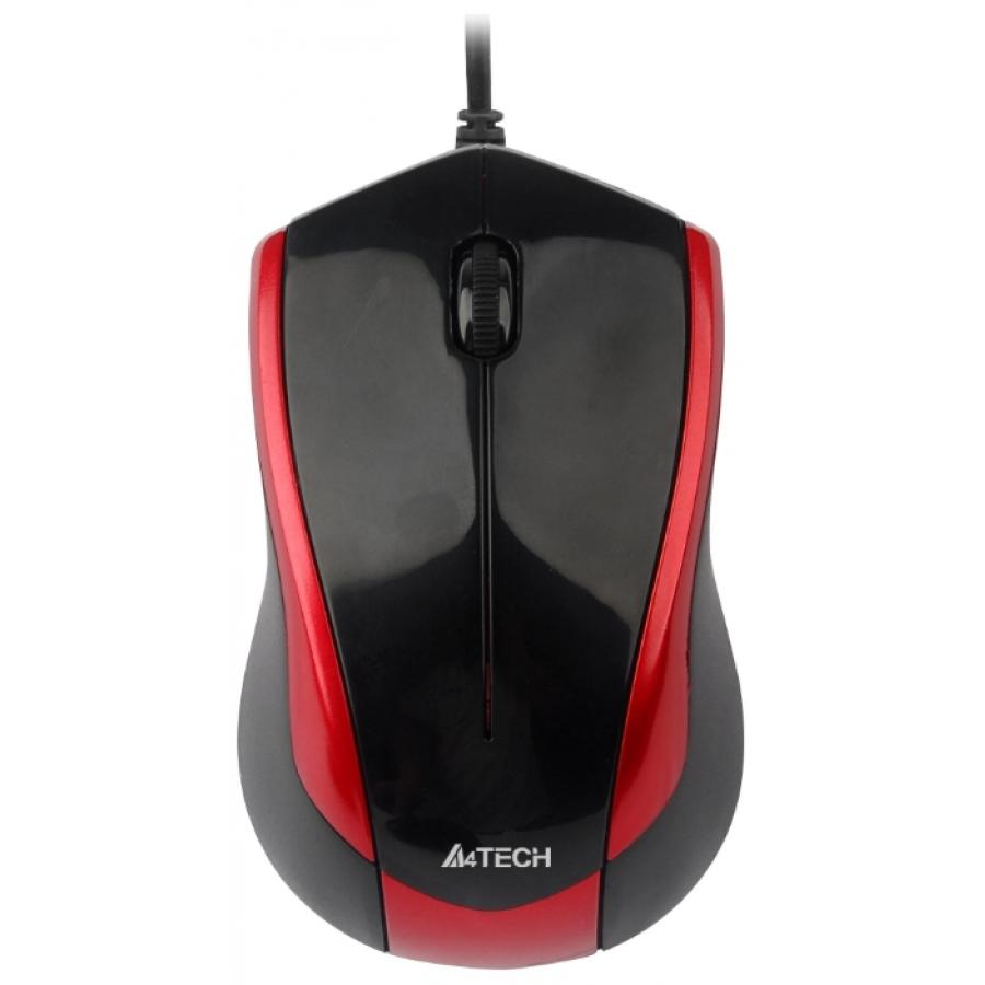 Мышь A4Tech V-Track Padless N-400-2 Red-Black USB