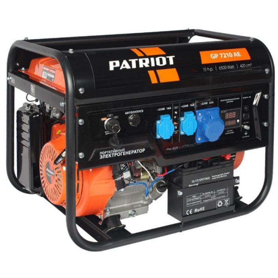 Генератор бензиновый Patriot GP 7210AE 474101590 генератор бензиновый masteryard mgv 6000tep