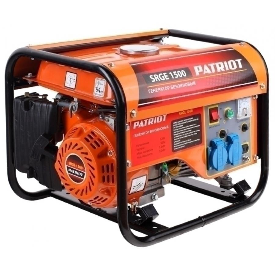 Генератор бензиновый Patriot Max Power SRGE 1500 474103125 генератор бензиновый patriot power srge 7500e