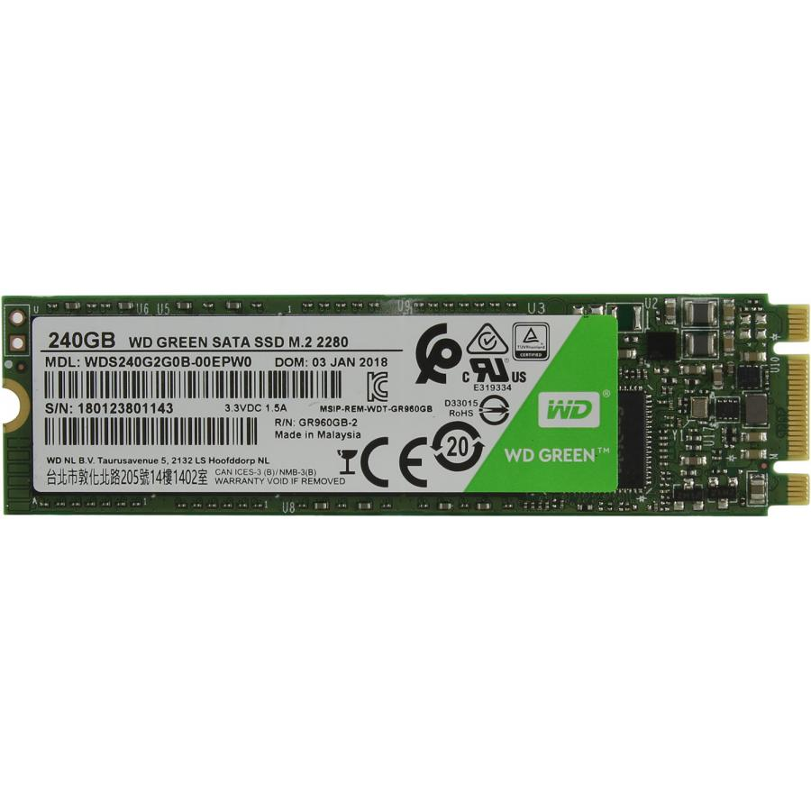 Накопитель SSD WD Green 240Gb (WDS240G2G0B)