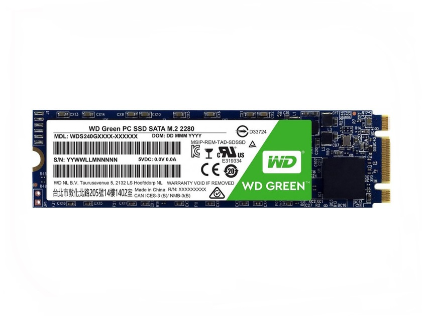 Накопитель SSD Western Digital Green 480Gb (WDS480G2G0B)