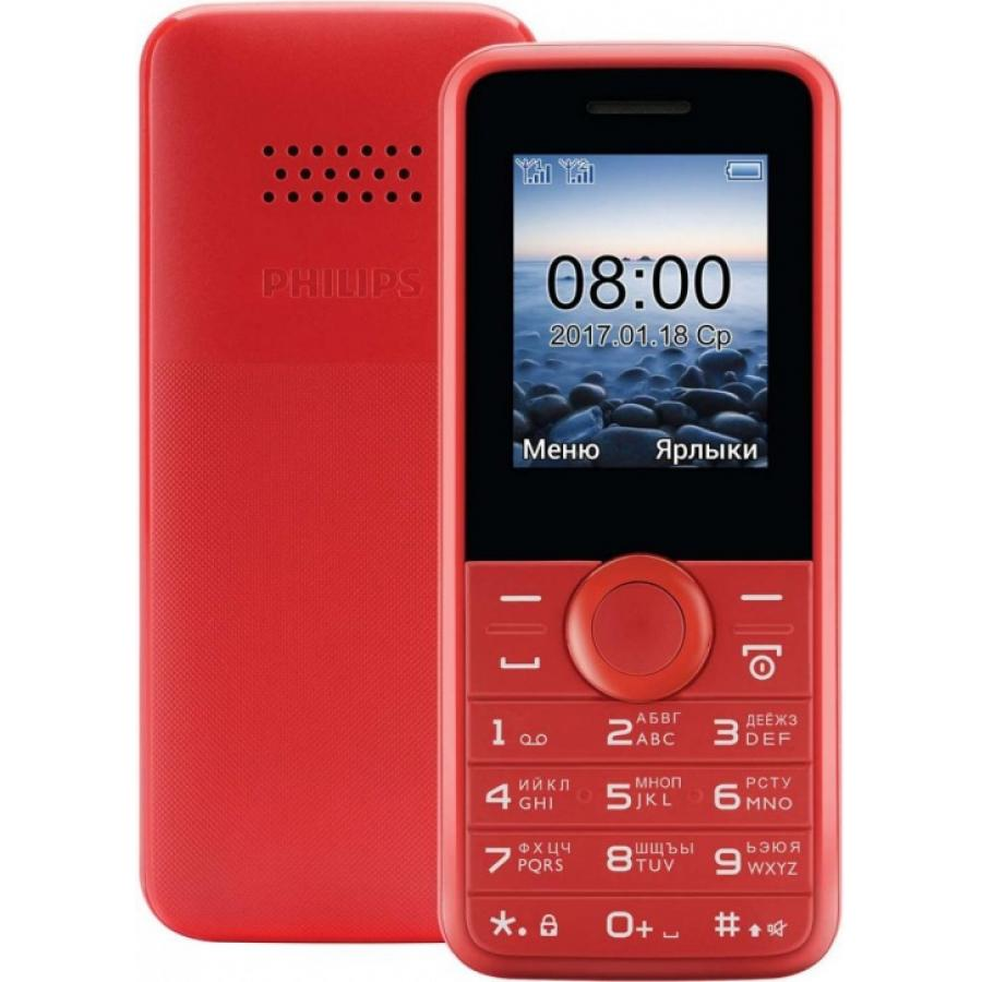 Мобильный телефон Philips E106 Red телефон
