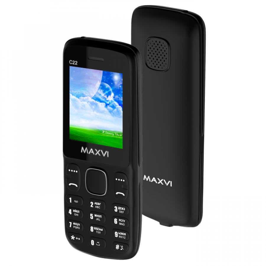 Мобильный телефон Maxvi C22 Black телефон sonim xp7 black