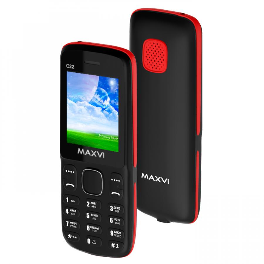 Мобильный телефон Maxvi C22 Black Red телефон sonim xp7 black