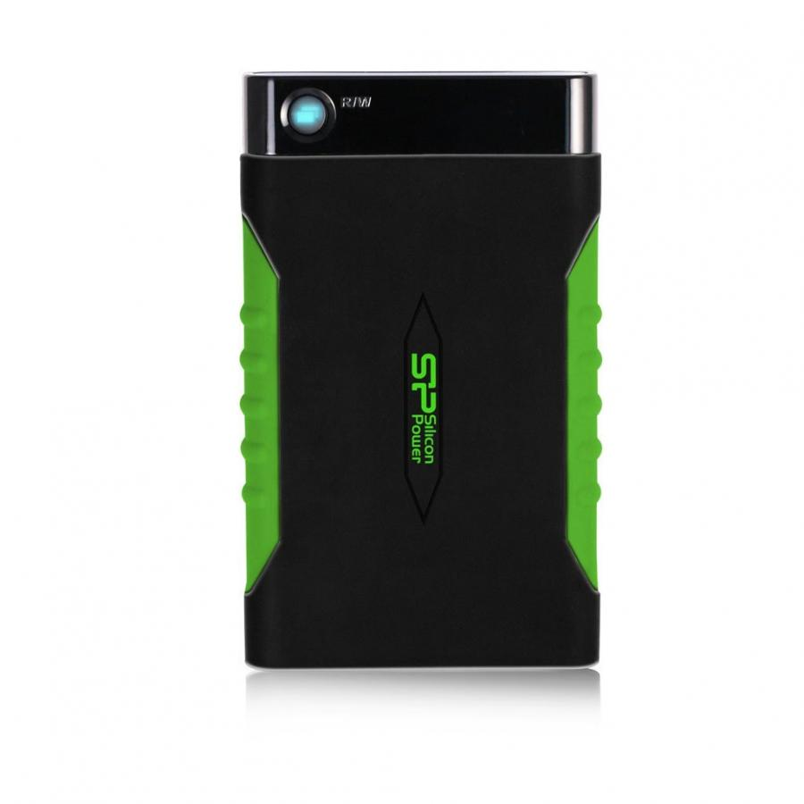 Фото - Внешний HDD Silicon Power 1Tb Armor A15 Black/Green (SP010TBPHDA15S3K) тестер кабеля 5bites ly ct011 и его длины для utp stp rj45 rj11 12 usb чехол