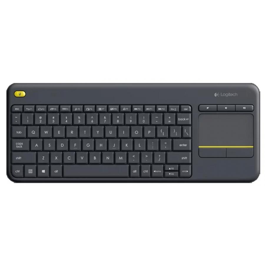 лучшая цена Клавиатура Logitech Wireless Touch Keyboard K400 Plus Black USB