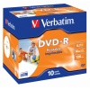 Диск DVD-R Verbatim 4.7Gb 16x Jewel case (10шт) Printable (43521...