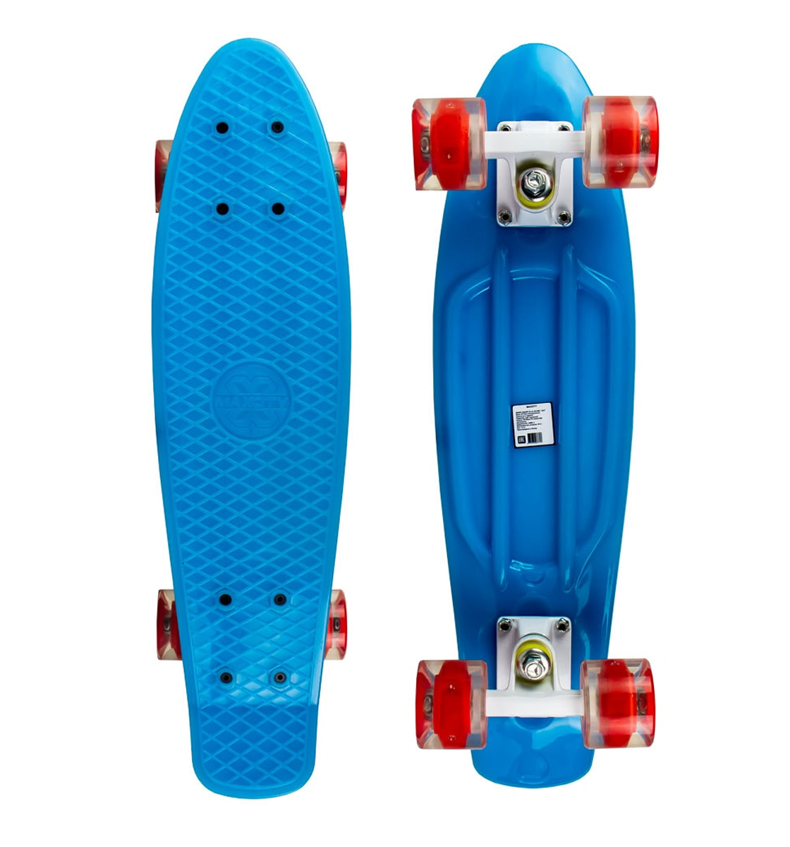 цена на Скейт Maxcity MC Plastic Board Gloss Small Blue