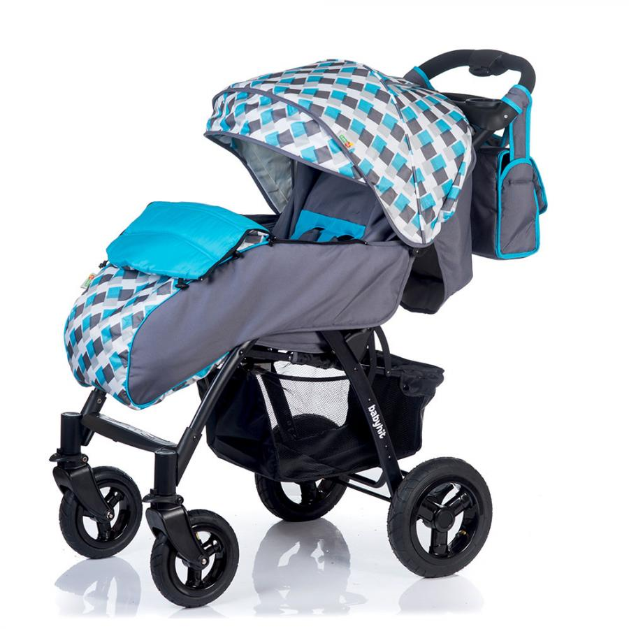 Коляска прогулочная Babyhit TRAVEL AIR серый с голубым four wheels stroller babyhit travel air kidstravel