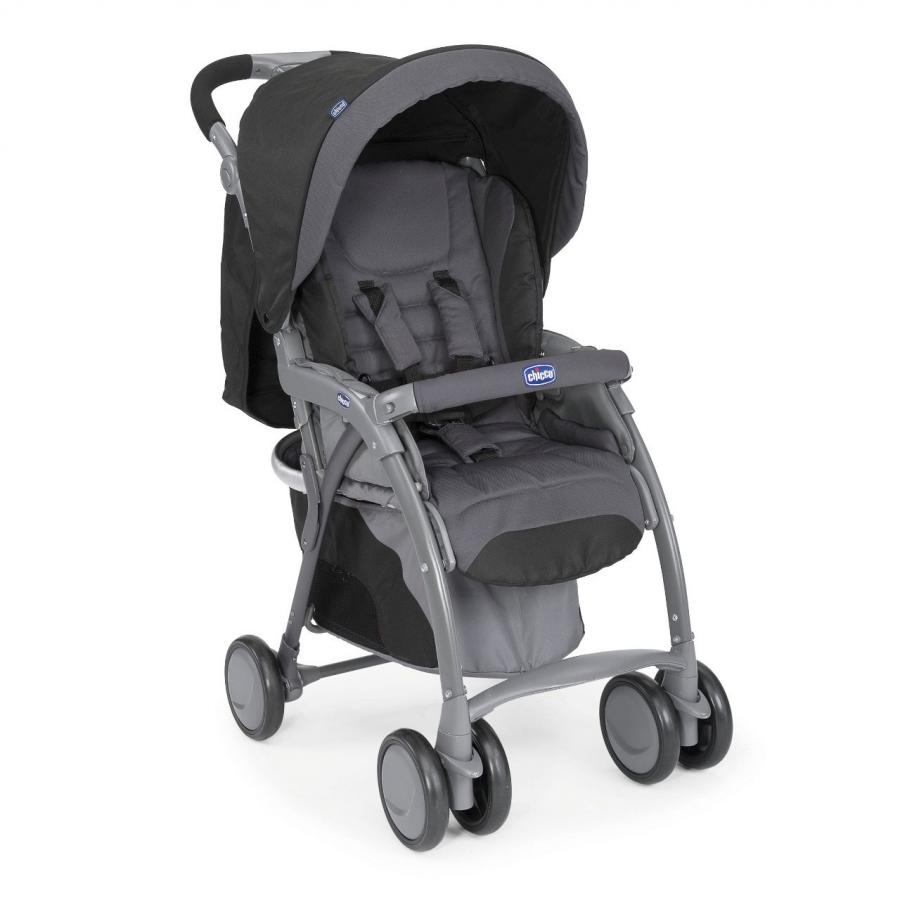 Фото - Коляска прогулочная Chicco Simplicity Plus Top Anthracite коляска прогулочная everflo safari grey e 230 luxe