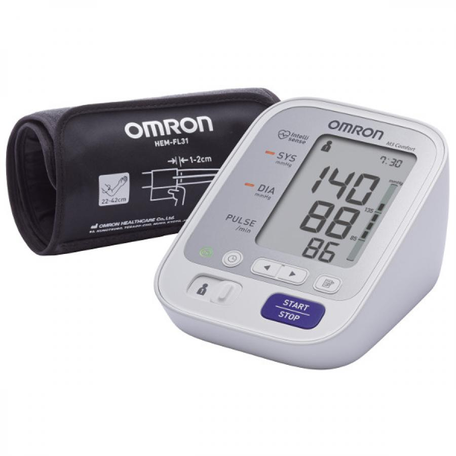Тонометр автоматический Omron M3 Comfort (HEM-7134-RU) omron m3 expert hem 7132 alru blood pressure monitor home health care heart beat meter machine tonometer automatic digital