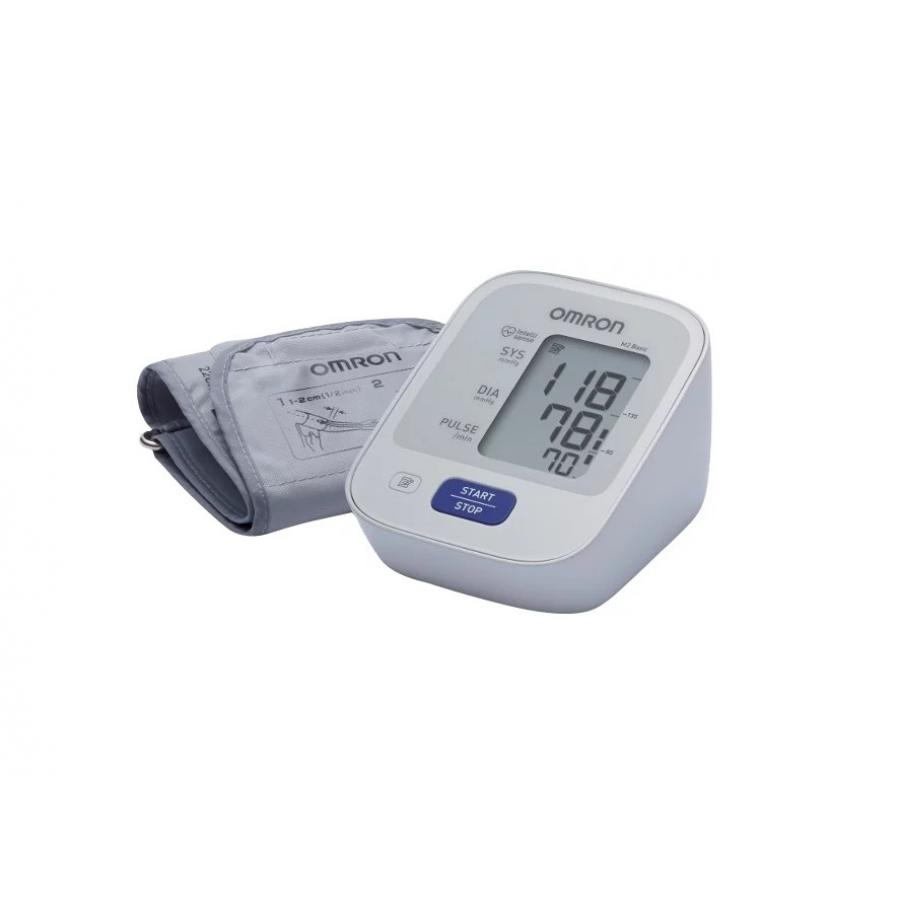 Тонометр автоматический с адаптером Omron М2 Basic (HEM-7121-ARU) omron m6 hem 7213 aru blood pressure monitor home health care monitor heart beat meter machine tonometer automatic digital