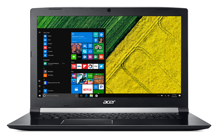 Ноутбук Acer Aspire A717-71G-50CV Core i5 7300HQ black NX.GPFER.004 gerber 71g