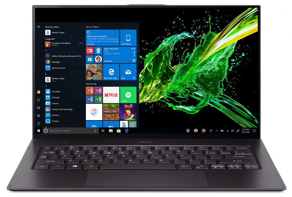 Ноутбук Acer Swift 7 SF714-52T-78V2 Core i7 8500Y black (NX.H98ER.005) ноутбук