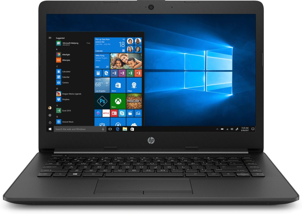 Ноутбук HP 14-ck0105ur Core i3 7020U black (7JX76EA) ноутбук