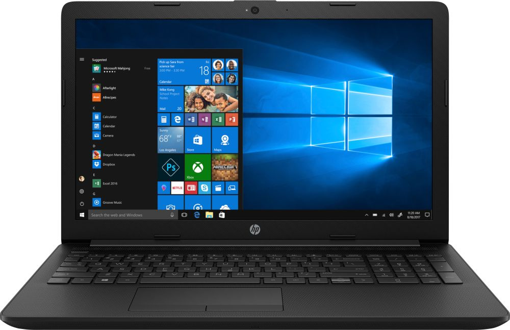 Ноутбук HP 15-da0452ur Core i3 7020U black (7JX96EA) ноутбук