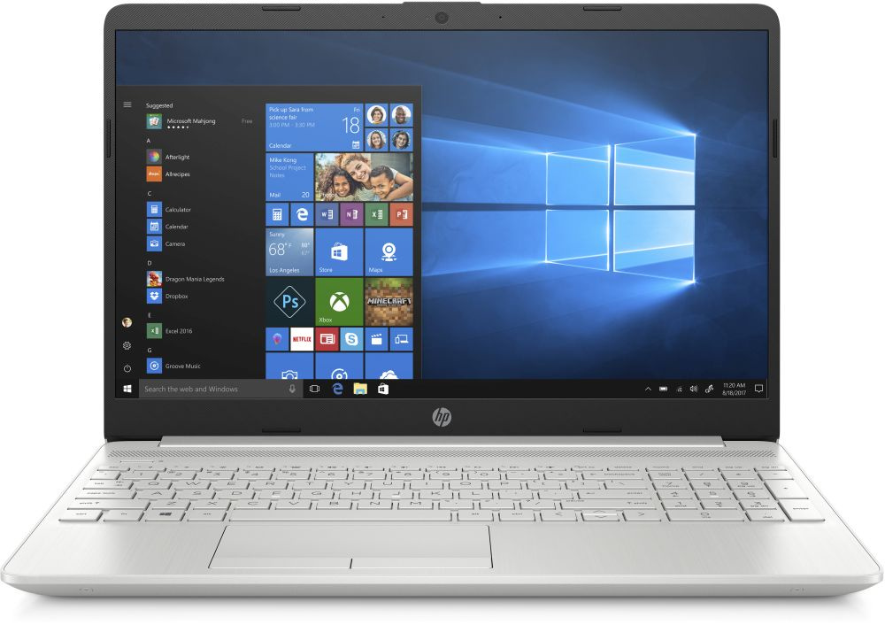 Фото - Ноутбук HP 15-dw0024ur Core i3 7020U silver (6RK54EA) ноутбук hp 15 da0026ur natural silver 4gk48ea