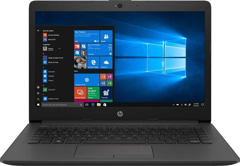 Ноутбук HP 240 G7 Core i3 7020U dark silver (6UK87EA) ноутбук
