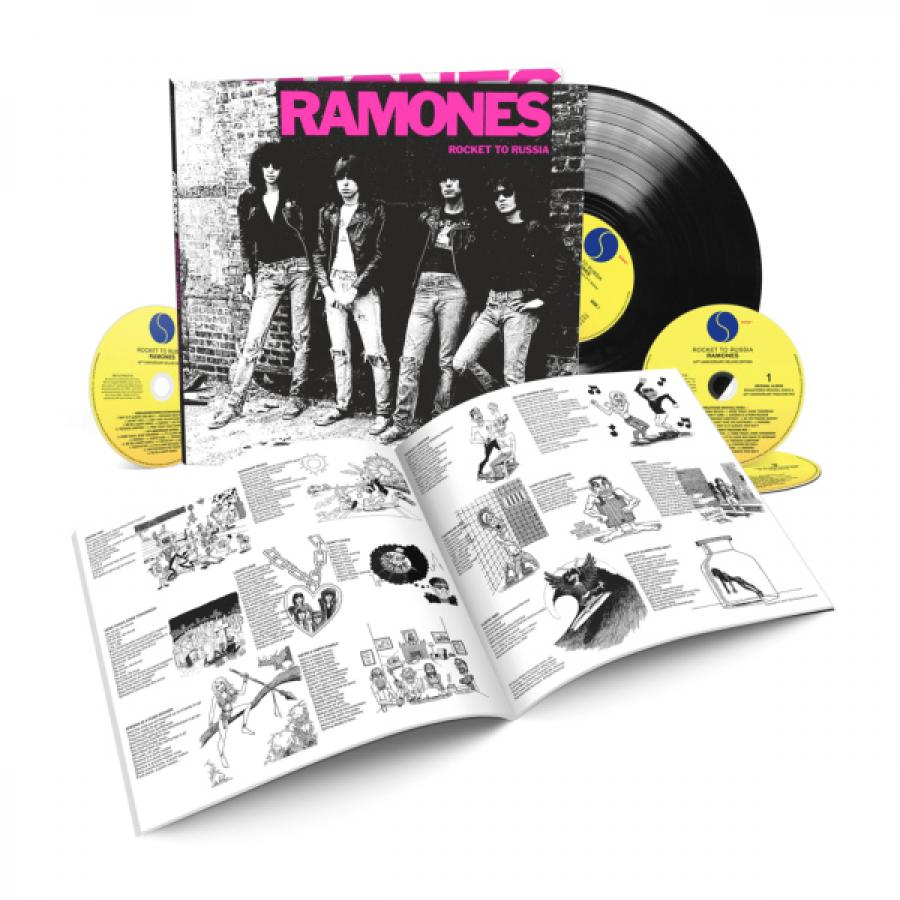 Виниловая пластинка Ramones, Rocket To Russia (40Th Anniversary) (LP, 3CD, Box Set)