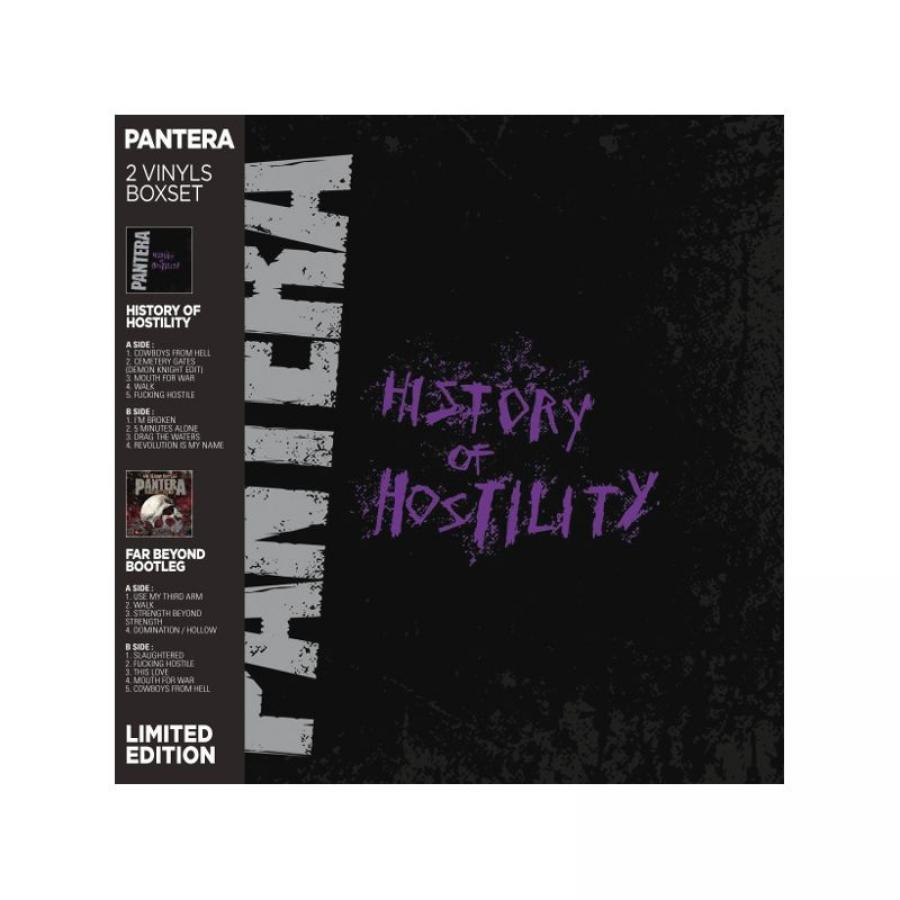 Виниловая пластинка Pantera, History Of HOSTility / Far Beyond: Live From Donington (Box Set) худи print bar pantera cowboys from hell