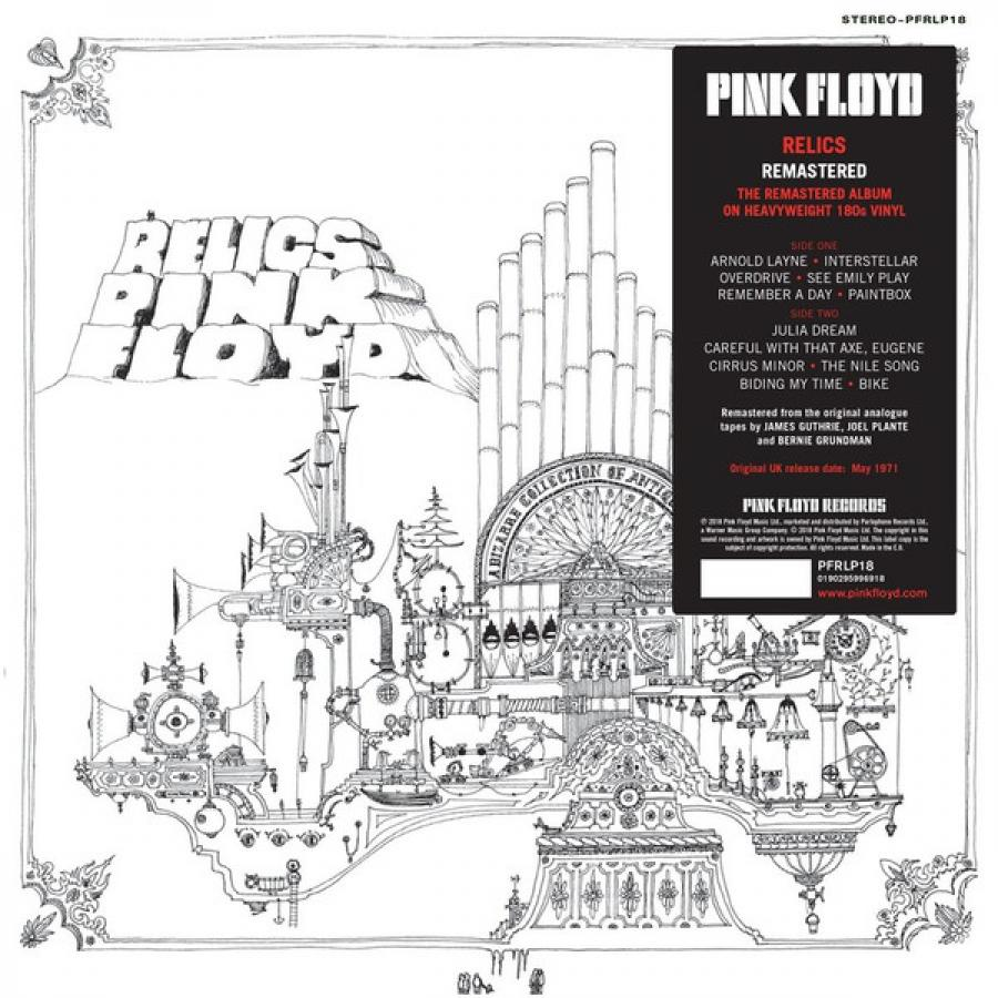 Виниловая пластинка Pink Floyd, Relics water music inductive drink reminder cup paste pink