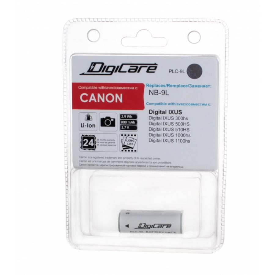 Аккумулятор DigiCare PLC-9L / NB-9L / IXUS 300HS, 500HS, 510HS, 1000HS, 1100HS, PowerShot N free shipping 95%new for canon powershot elph 160 ixus 160 ixus160 lens zoom unit replacement part