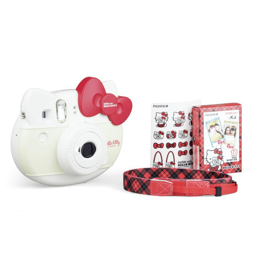 моментальной печат Fujifilm Instax Mini Hello Kitty + картрдж, ремень наклейк Red
