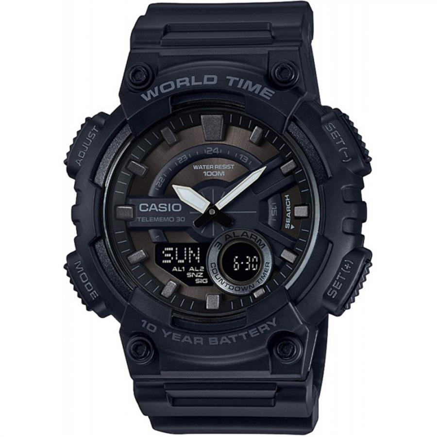 Наручные часы Casio Combinaton Watches AEQ-110W-1B наручные часы casio combinaton watches aeq 100w 1b