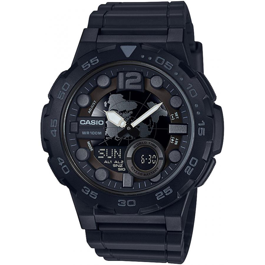 Наручные часы Casio Combinaton Watches AEQ-100W-1B наручные часы casio combinaton watches aeq 100w 1b