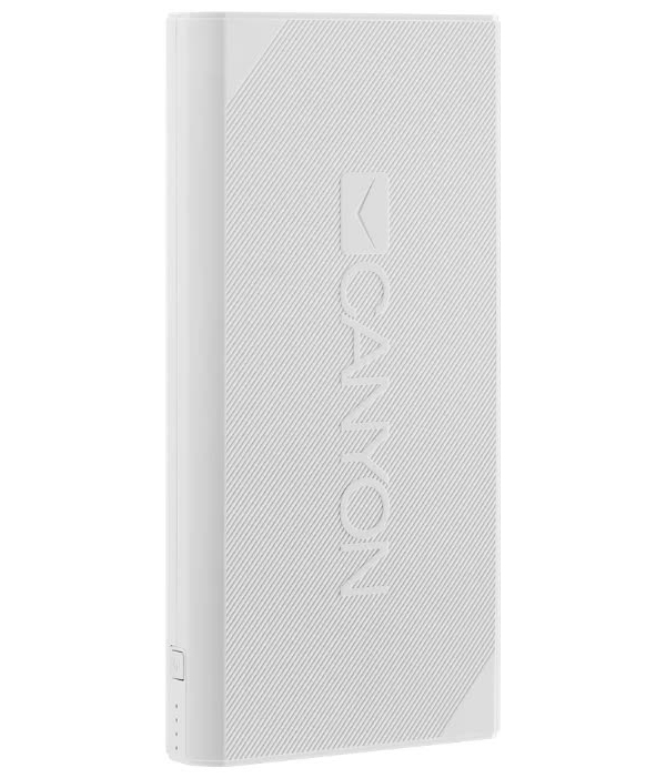 Внешний аккумулятор CANYON Power bank 20000mAh White (H2CNECPBF200W)
