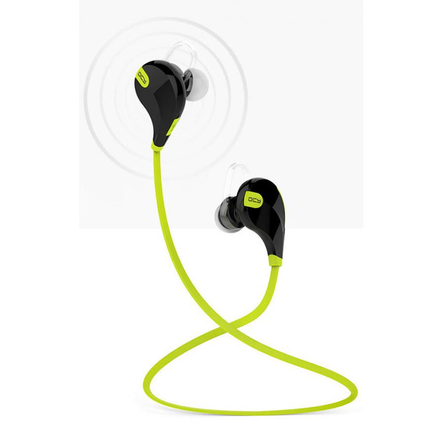 Наушники QCY QY7 Black-Green qcy qy7 wireless bluetooth 4 1 stereo sport earphone with mic