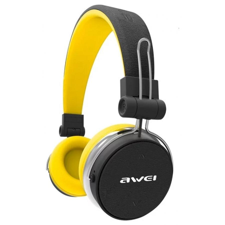 Наушники Awei A700BL Black-Yellow awei a860bl sport bluetooth earphones with mic gold