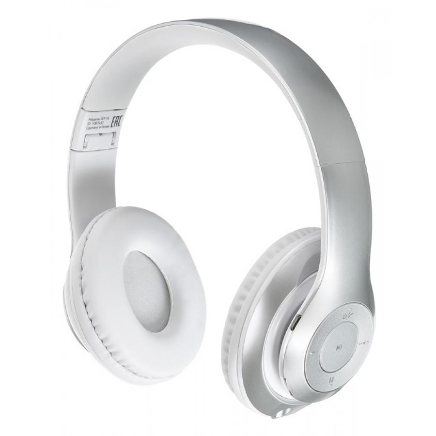 Фото - Наушники Digma BT-14 White-Silver (L150BT) bluetooth гарнитура intro hsw310