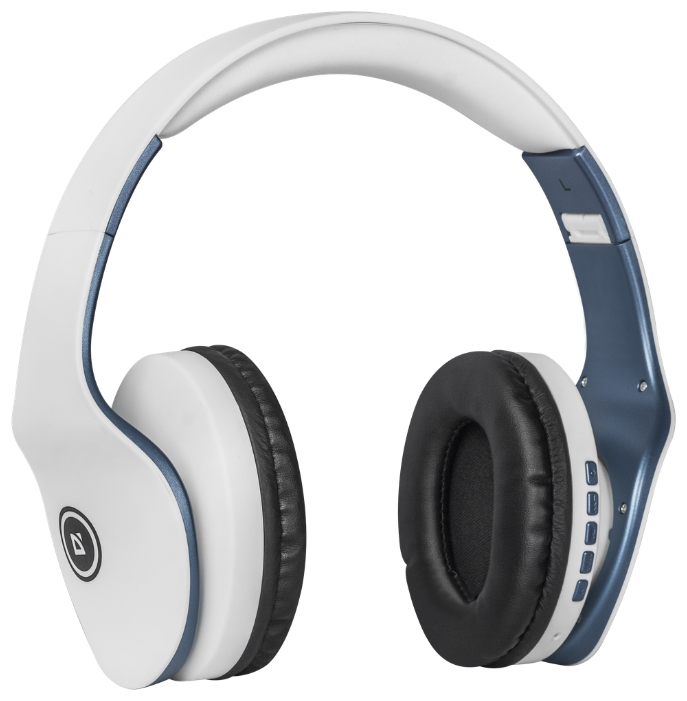 Купить Наушники Defender FreeMotion B525 White/Blue Bluetooth (63526)