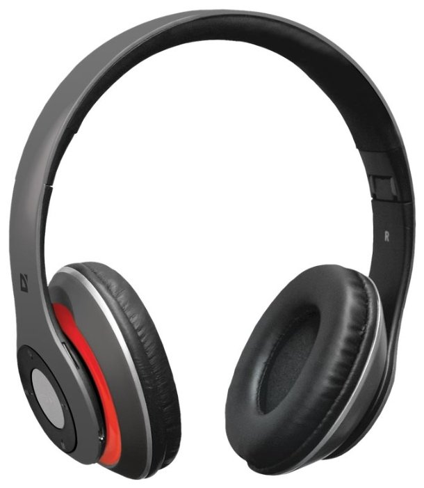 купить Наушники Defender FreeMotion B570 Red/серый, Bluetooth (63570) онлайн
