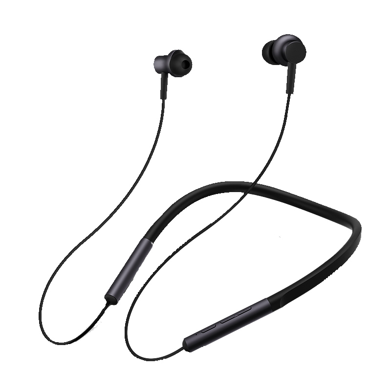 Фото - Наушники Xiaomi Mi Bluetooth Neckband Earphones Black (X18077) наушники xiaomi mi in ear headphones basic black x14273