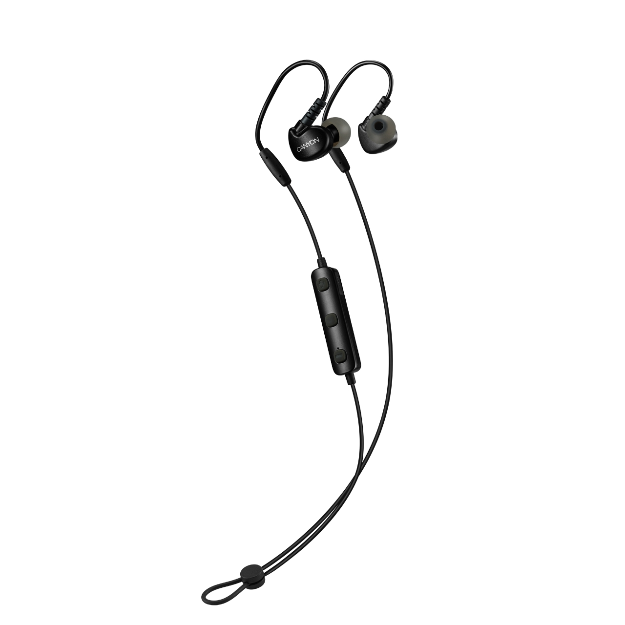 Наушники Canyon Bluetooth sport earphones with microphone black (H2CNSSBTHS1B)